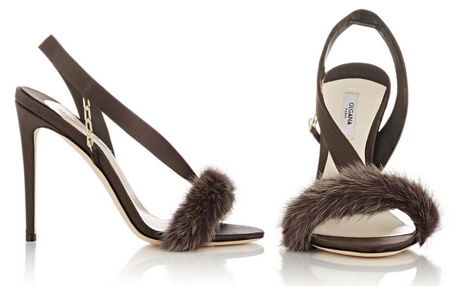 Olgana L'Amazone Asymmetric Slingback Sandals