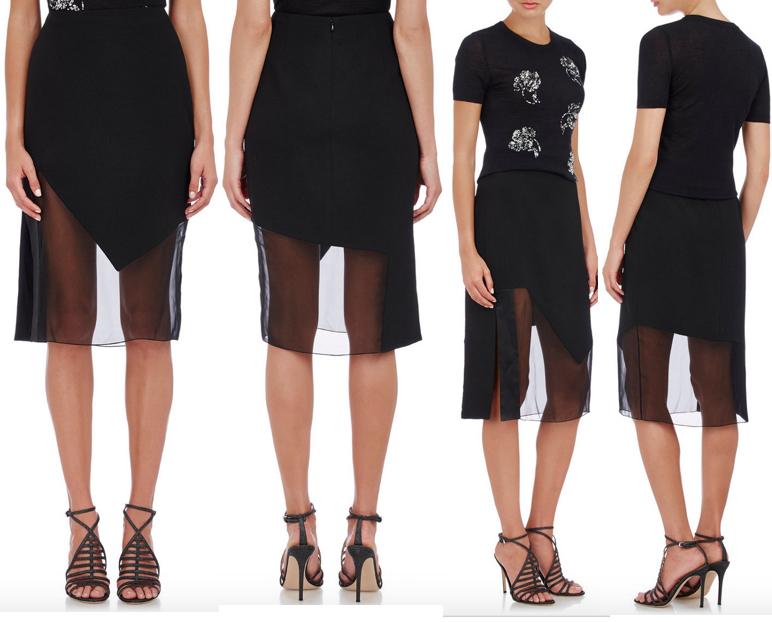 Prabal Gurung Textured Combo Skirt