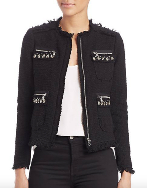Rebecca Taylor Embellished Tweed Jacket