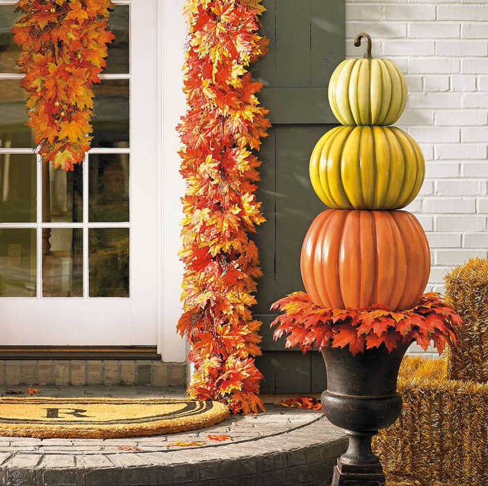 Stacked Pumpkin Topiary 4