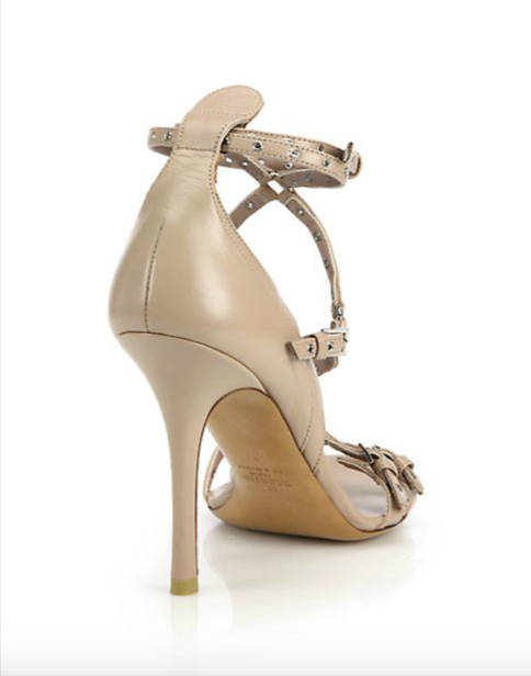 Valentino Lovelatch Grommeted Leather Sandals 2