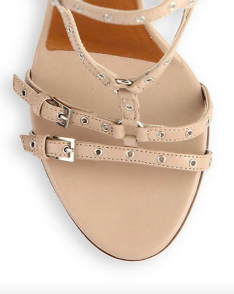 Valentino Lovelatch Grommeted Leather Sandals 3