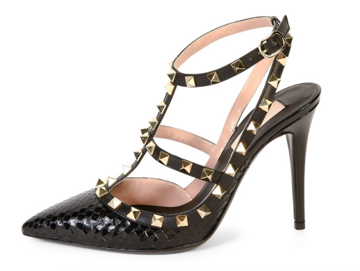 Valentino Rockstud Ayers Snakeskin Sandal 3