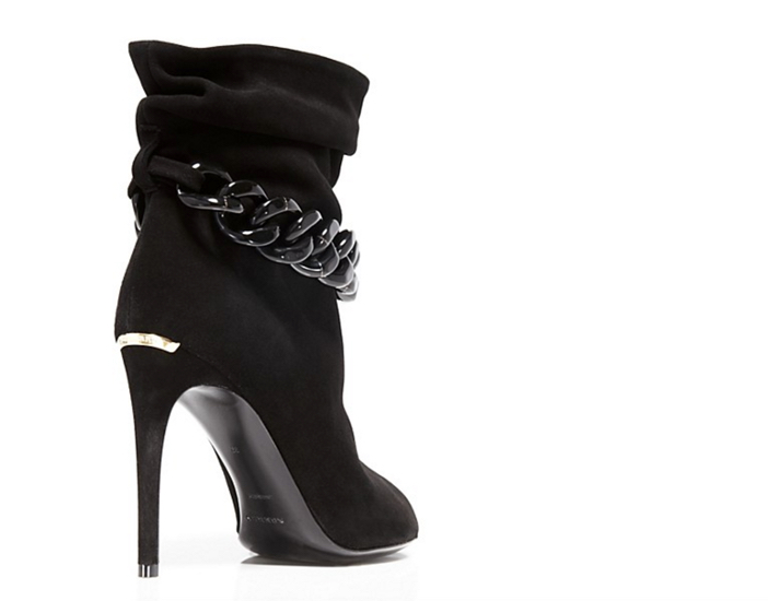 Burberry Punterel Chain Open Toe High Heel Booties 2
