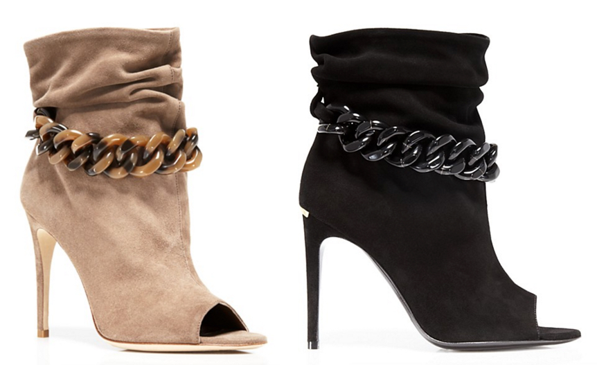 Burberry Punterel Chain Open Toe High Heel Booties