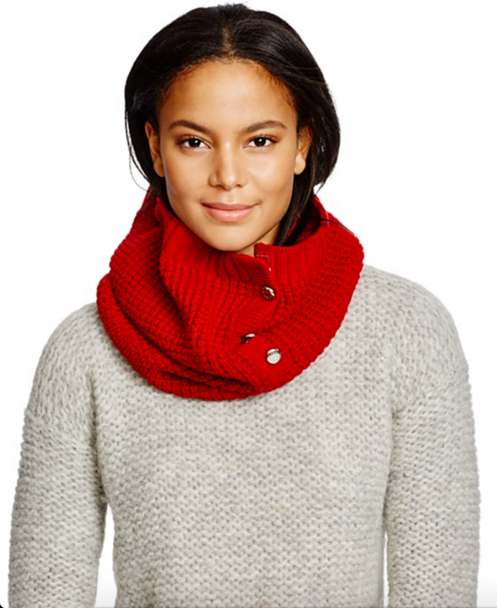 Michael Kors Waffle Stitch Slouchy Hat, Neckwarmer & Gloves 2