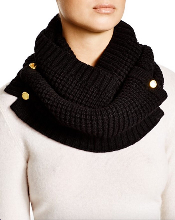 Michael Kors Waffle Stitch Slouchy Hat, Neckwarmer & Gloves 4