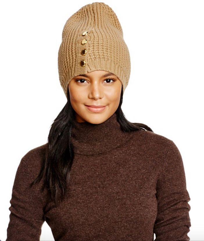 Michael Kors Waffle Stitch Slouchy Hat, Neckwarmer & Gloves 5