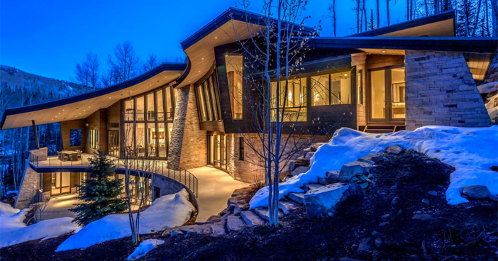 $14.4 Million Modern Mountain Ski Estate in Park City Utah