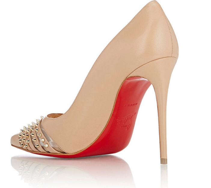 replica christian louboutin mens shoes - Shoe of the Day: Christian Louboutin Spiked Bareta Flats