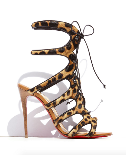 Christian Louboutin Amazoulo Caged Calf-Hair Red Sole Sandal 2