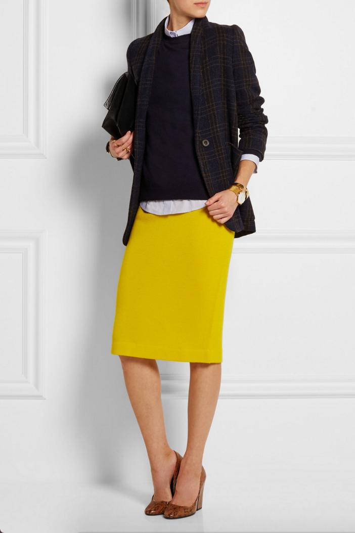 J Crew Albee Merino Wool Jersey Skirt