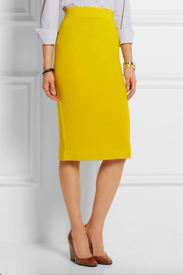 J.CREW Albee Merino Wool Jersey Skirt