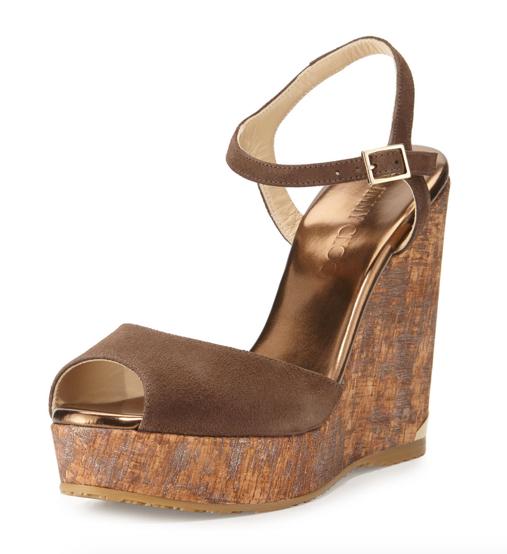 Jimmy Choo Perla Wedge Sandal