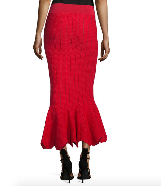 Jonathan Simkhai Striped Stretch Trumpet Skirt 2