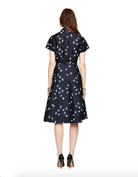 Kate Spade New York Winter Swallow Structured Shirtdress 2