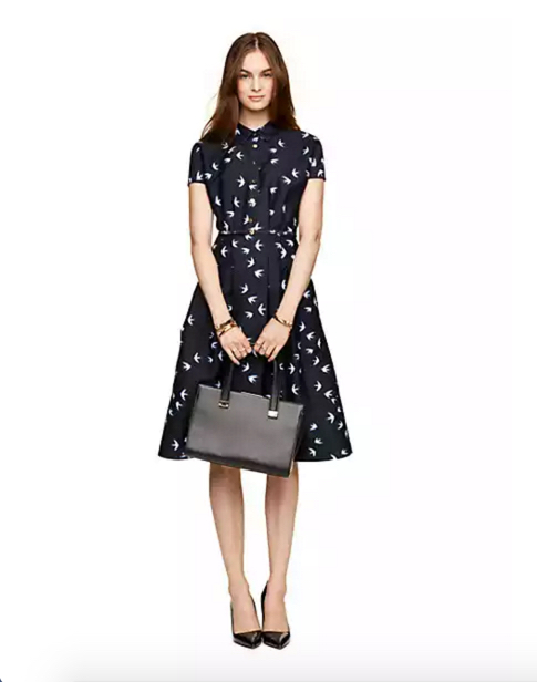 Kate Spade New York Winter Swallow Structured Shirtdress
