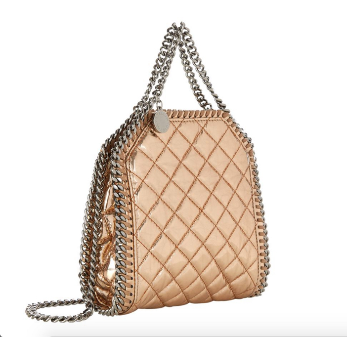 Stella McCartney Falabella Tiny Quilted Metallic Tote 2