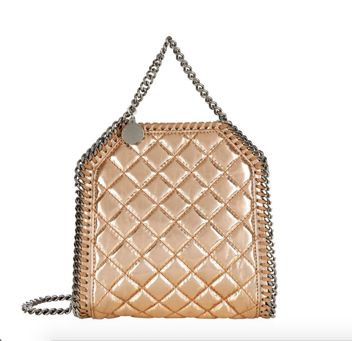 Stella McCartney Falabella Tiny Quilted Metallic Tote