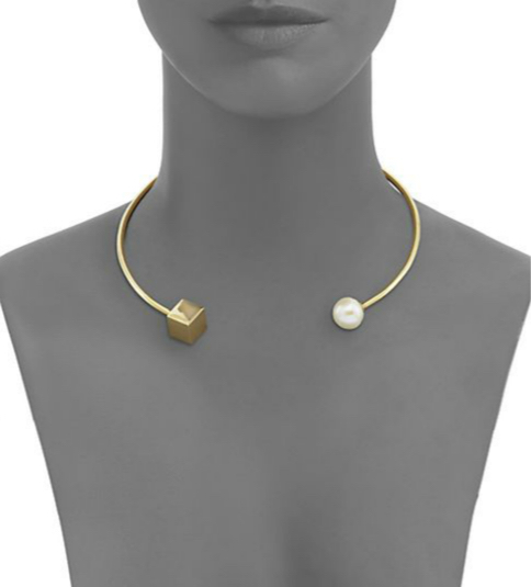 Tomtom Modern Modular Freshwater Pearl-Tipped Open Collar Necklace 2