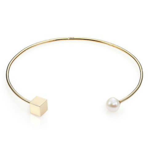 Tomtom Modern Modular Freshwater Pearl-Tipped Open Collar Necklace 3