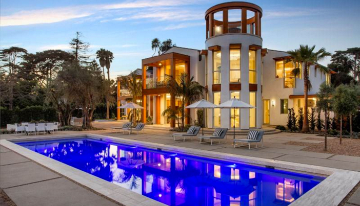 Estate of the day 35 million contemporary mansion in for Modern mansions in california