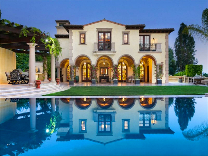 $35 Million Private and Gated Italian Villa in Beverly Hills California