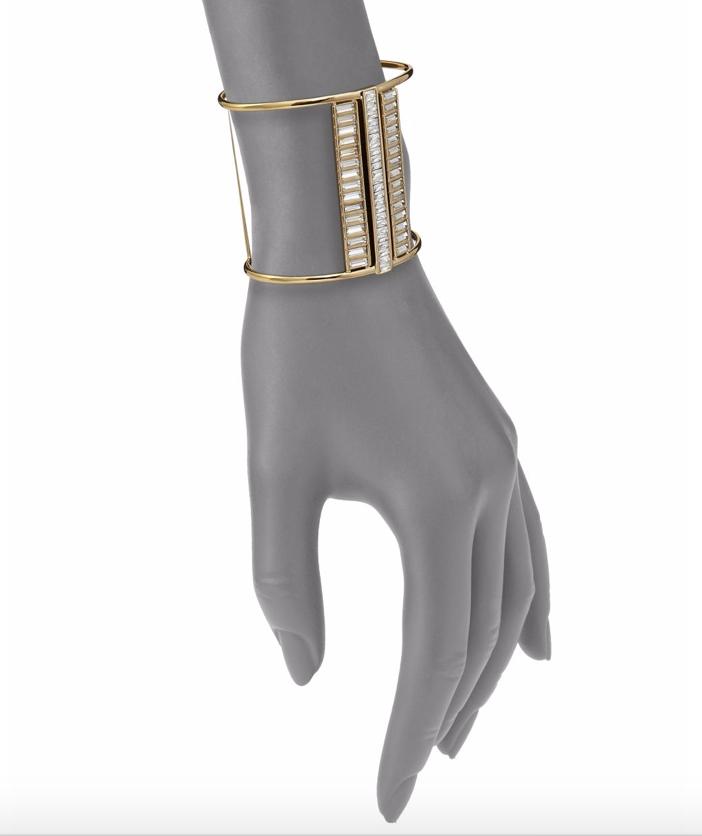 Alexis Bittar Miss Havisham Deconstructed Deco Crystal Cuff Bracelet 2