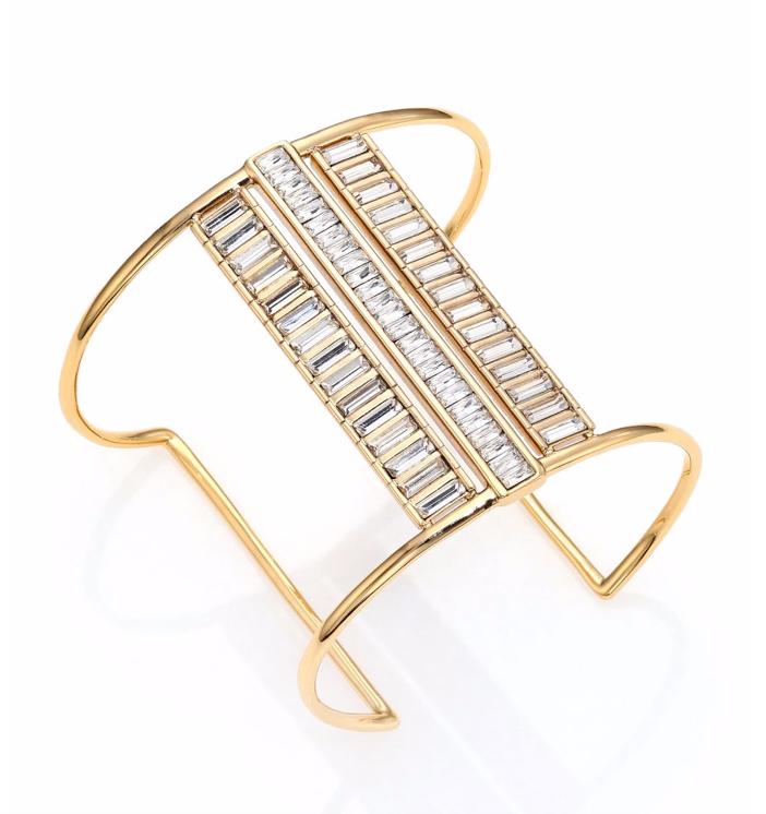 Alexis Bittar Miss Havisham Deconstructed Deco Crystal Cuff Bracelet
