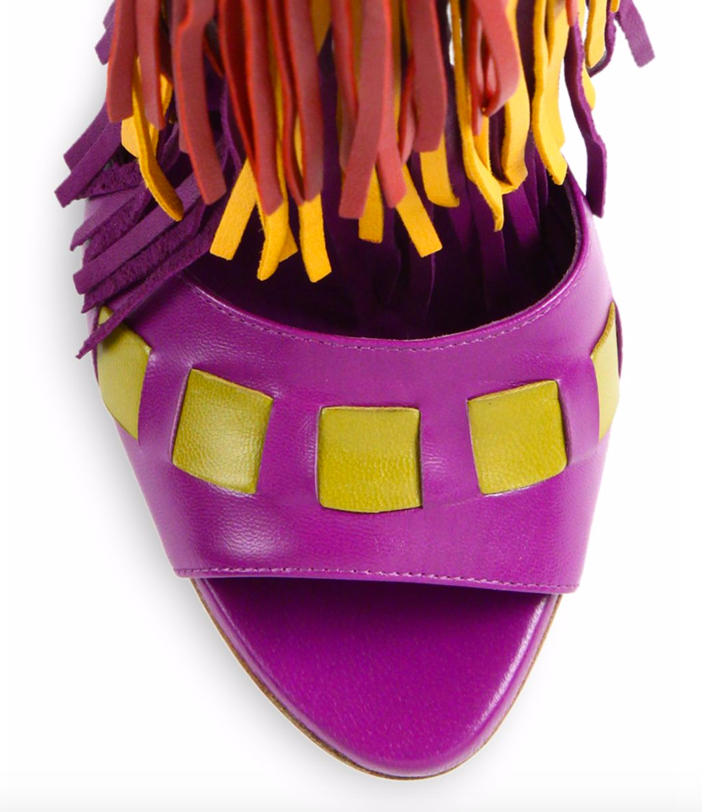 Brian Atwood Abby Fringed Leather Sandals 3