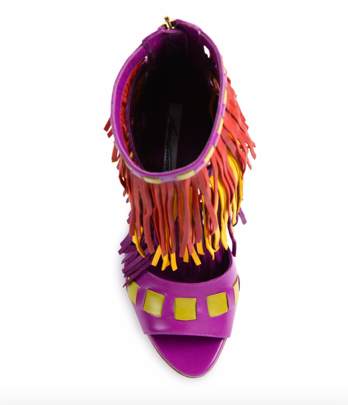 Brian Atwood Abby Fringed Leather Sandals 4