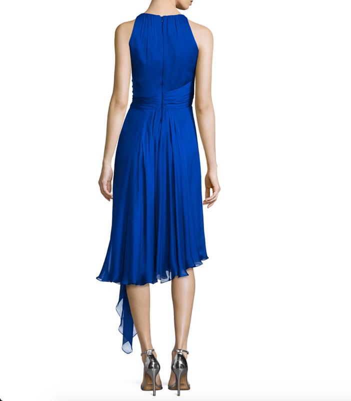 Carmen Marc Valvo Sleeveless Asymmetric Cocktail Dress 2