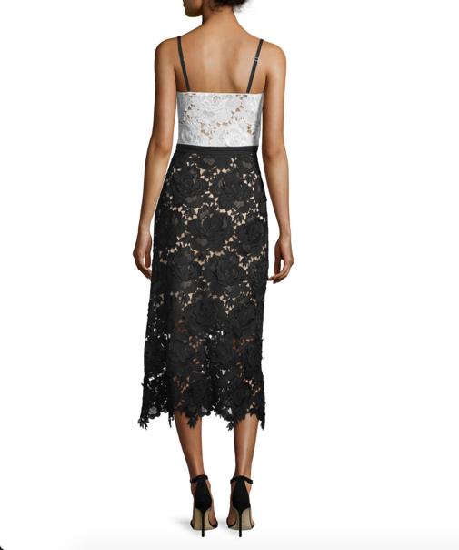 Catherine Deane Sleeveless Sweetheart Lace Midi Cocktail Dress 2