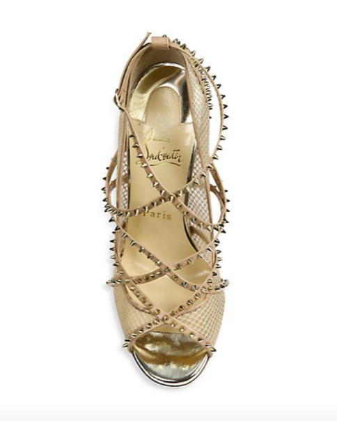 Christian Louboutin Alarc Spiked Strappy Sandals 4