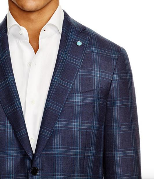 Eidos Windowpane Slim Fit Sport Coat 2