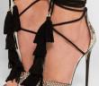 Jimmy Choo Mindy Tasseled Python Sandals