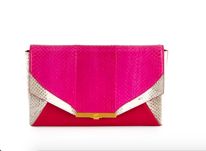 Khirma Roya Watersnake Envelope Clutch Bag 2