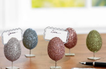 Pottery Barn German Glitter Egg Place Card Holders