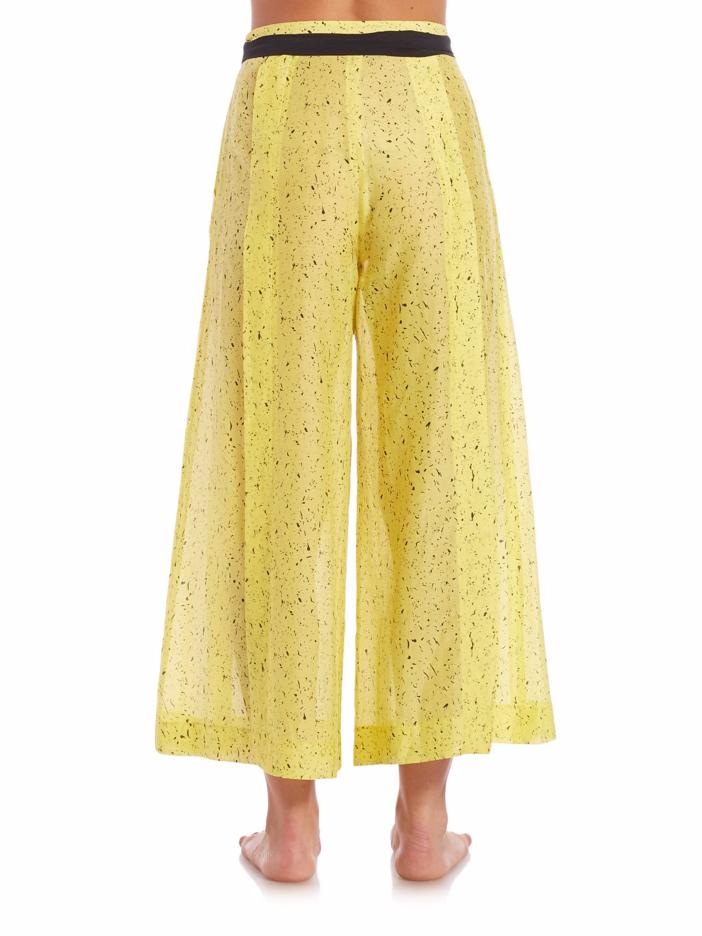 Proenza Schouler Splatter Print Cotton & Silk Palazzo Pants 5