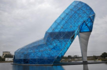 Taiwan Builds Huge Glass Shoe As A Tribute To Women