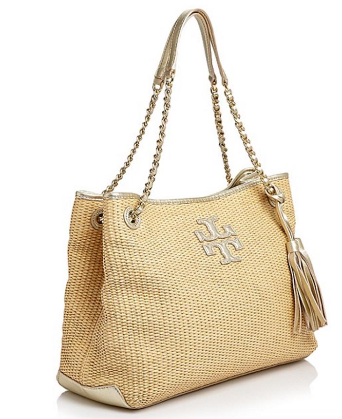 Tory Burch Thea Metallic Straw Chain Shoulder Bag 2