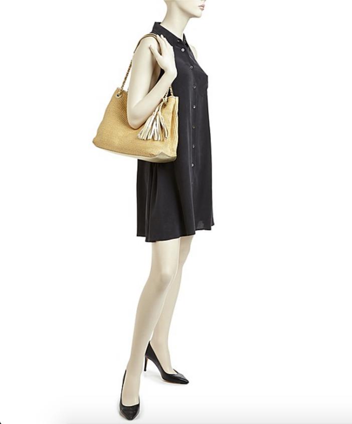 Tory Burch Thea Metallic Straw Chain Shoulder Bag 3