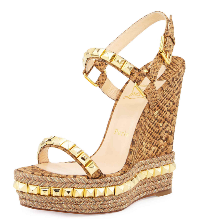 online store 7aa16 53747 Shoe of the Day: Christian Louboutin Cataclou Studded Cork ...