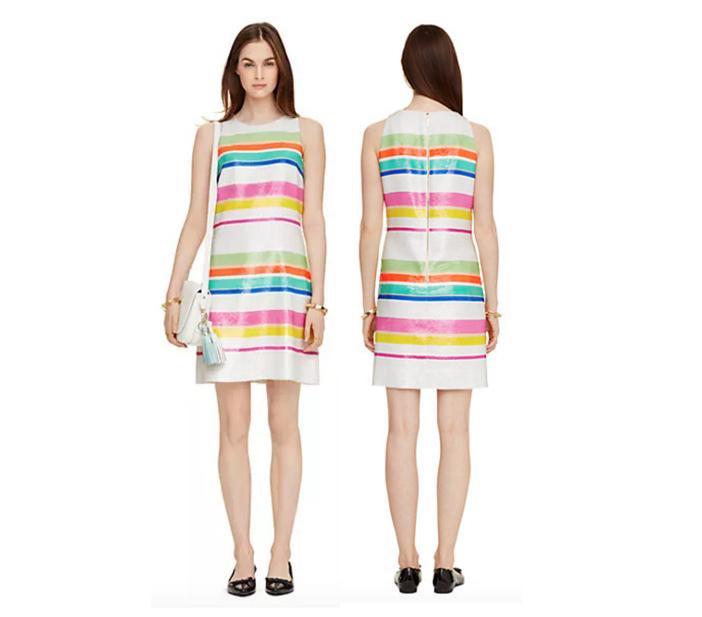 Kate Spade New York Cape Stripe Sequin Dress