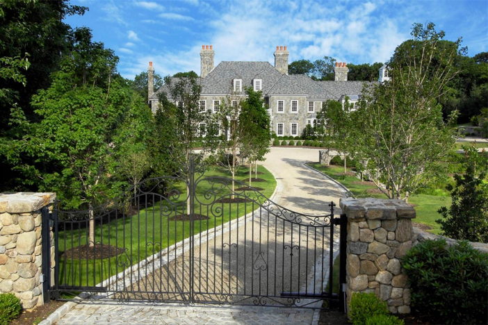 $12.5 Million Stone Georgian Mansion in Greenwich Connecticut