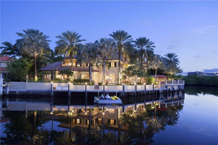 $6.9 Million Lake Como-Inspired Point Estate in Boca Raton Florida