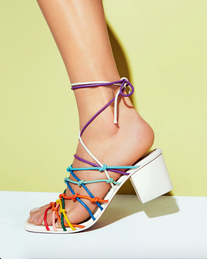 Chloe Knotted Ankle-Wrap Sandal 2
