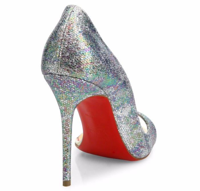 christian louboutins replicas - Shoe of the Day: Christian Louboutin Toboggan Glitter Half D'Orsay ...