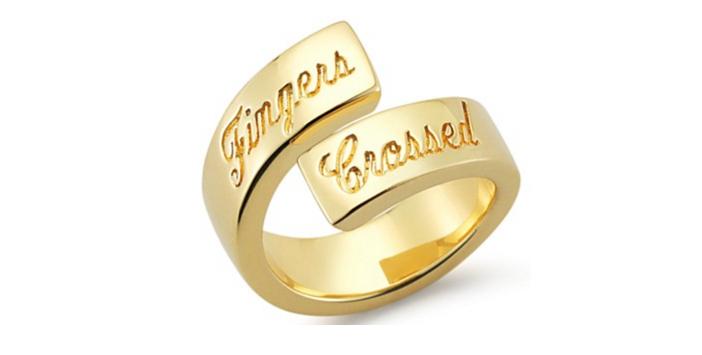 Elizabeth and James Fingers Crossed Ring 2
