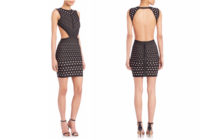 Herve Leger Printed Cutout Dress 5